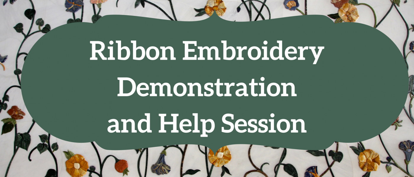 Ribbon Embroidery Demonstration